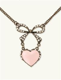 BLUSHING HEART NECKLACE