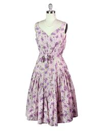 April Cornell Lilac Bouquet Dress