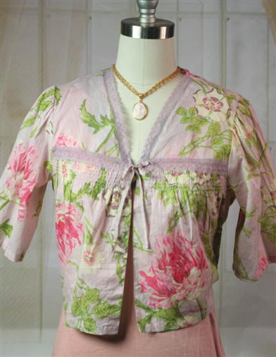 Vintage Inspired Nightgowns, Robes, Pajamas, Baby Dolls April Cornell Rose Nouveau Cover-Up $49.95 AT vintagedancer.com