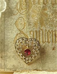 Swarovski Dangling Heart Necklace
