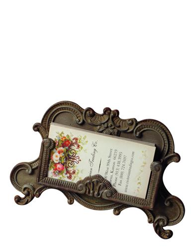 Pewter Baroque Card Holder