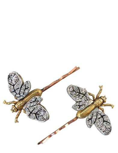 1920s Jewelry Styles History Firefly Hair Pins $39.95 AT vintagedancer.com