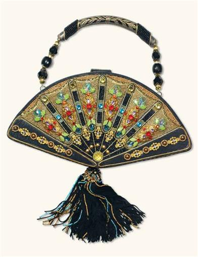 1930s Handbags and Purses Fashion Mary Frances Fan Out Handbag $298.00 AT vintagedancer.com