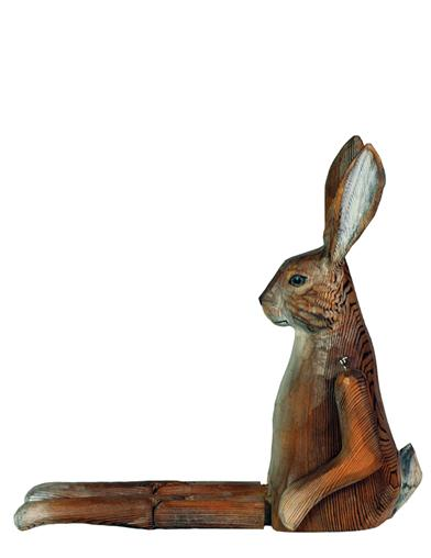 Whittled Woodland Shelf Sitter (Rabbit)