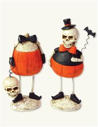Sir Skeleton Figurines (Pair)