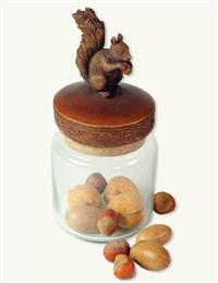 Forest Friends Glass Container (Squirrel)
