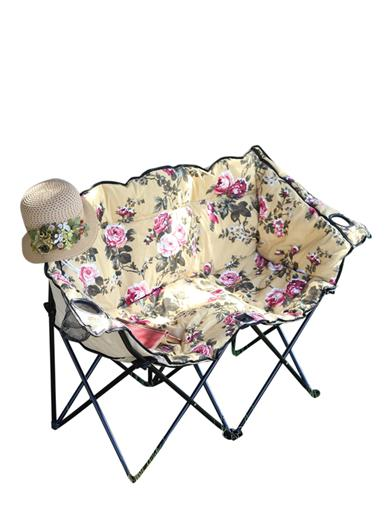 chintz tete a tete lawn chair collapsible canvas loveseat. Black Bedroom Furniture Sets. Home Design Ideas