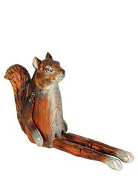 Whittled Woodland Shelf Sitter (Squirrel)