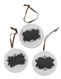Chalkboard Ornaments (Set Of 3)