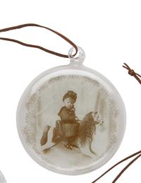 Victorian Glass Ornaments (Set Of 4)