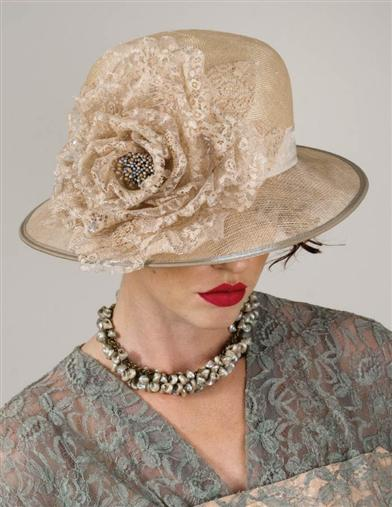 Edwardian Style Hats, Titanic Hats, Derby Hats Louise Green Vivienne Hat $369.95 AT vintagedancer.com
