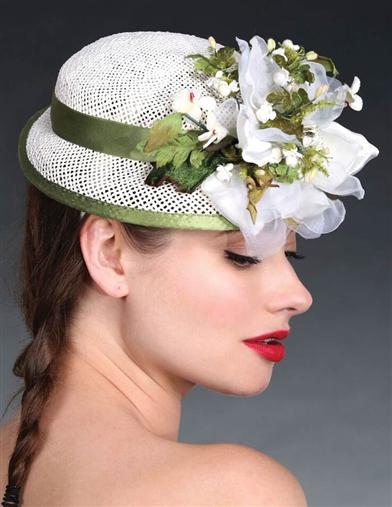Women's Vintage Hats | Old Fashioned Hats | Retro Hats Louise Green Green Gables Doll Hat $279.95 AT vintagedancer.com