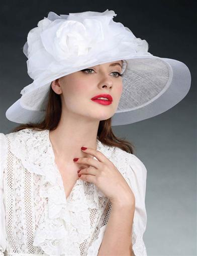Edwardian Style Hats, Titanic Hats, Derby Hats Louise Green Helena Hat $399.95 AT vintagedancer.com