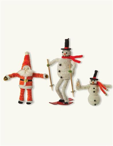 Motley Merrymakers Pipecleaner Ornaments