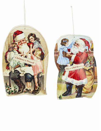 Santa Pillow Ornaments (Pair)