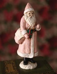 Belsnickle Courier Santa Figurine