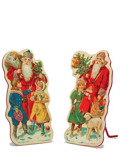 Santa Bearing Gifts Dummy Boards (Pair)