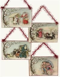 Out In The Snow Ornament Collection (Set Of 4)