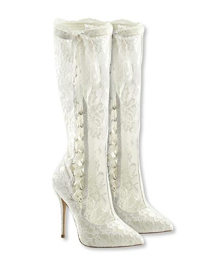 New Authentic Victorian Boots for Women Queen AnneS Lace Stiletto Boots $99.95 AT vintagedancer.com