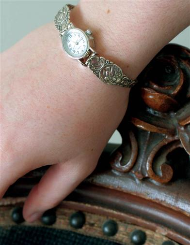 Victorian Costume Jewelry to Wear with Your Dress Victorian Spoon Bracelet Watch $99.99 AT vintagedancer.com