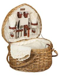 Two-of-a-kind Heart Picnic Basket