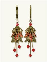Red Fern Earrings