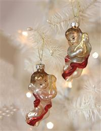 Celestial Serenade Angel Ornaments (Pair)