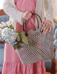 Dove Gray Crocheted Tote