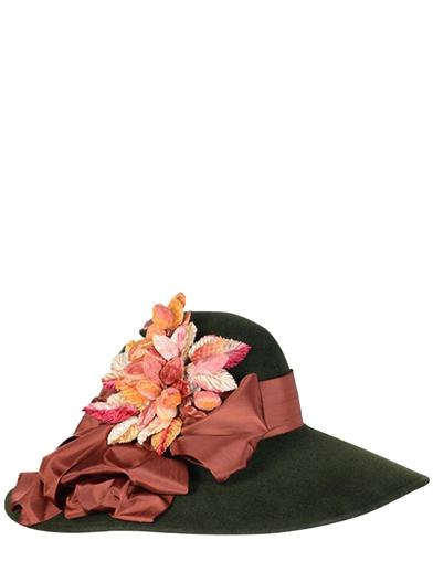 Edwardian Style Hats, Titanic Hats, Derby Hats Louise Green Floppy Velour Hat $399.95 AT vintagedancer.com