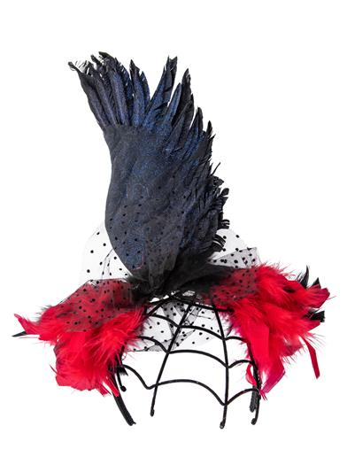 Steampunk Hats | Top Hats | Bowler Raven Wing Headband $24.95 AT vintagedancer.com