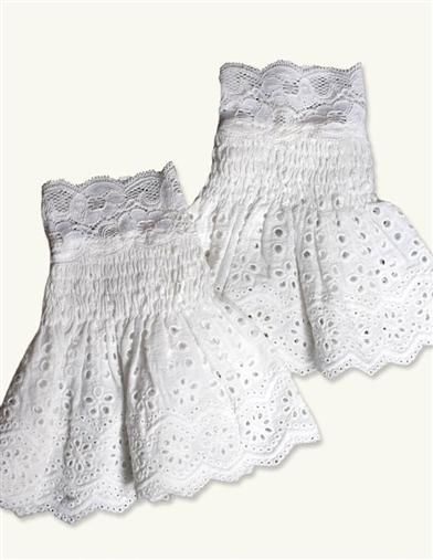 Victorian Style Blouses, Tops, Jackets April Cornell Eyelet Lace Cuffs $14.95 AT vintagedancer.com