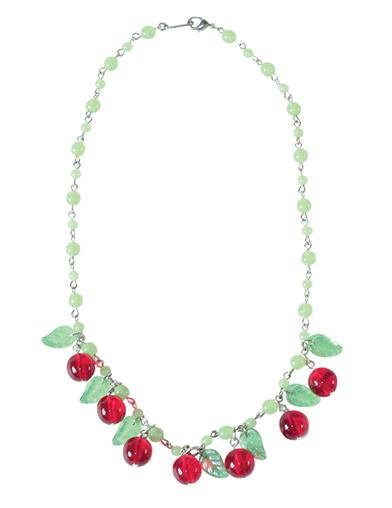 1930s Jewelry | Art Deco Style Jewelry Bing Cherry Necklace $34.99 AT vintagedancer.com
