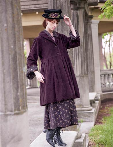 History of 1920s Coats, Furs and Capes April Cornell Aubergine Jacket $189.00 AT vintagedancer.com