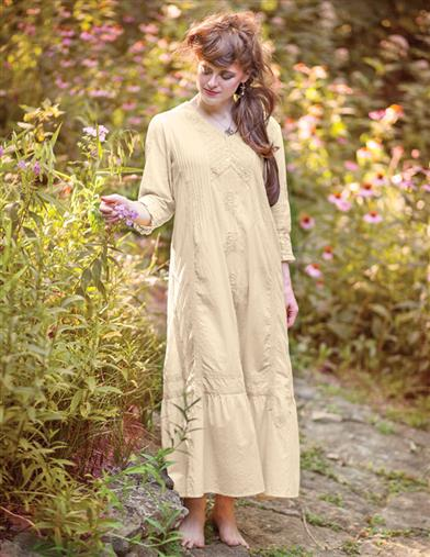 1920s Style Dresses, Flapper Dresses April Cornell Rapunzel Nightgown $112.00 AT vintagedancer.com