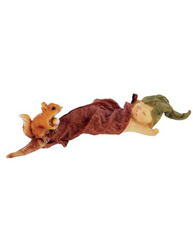 Sleeping Sprites Fairy With Squirrel