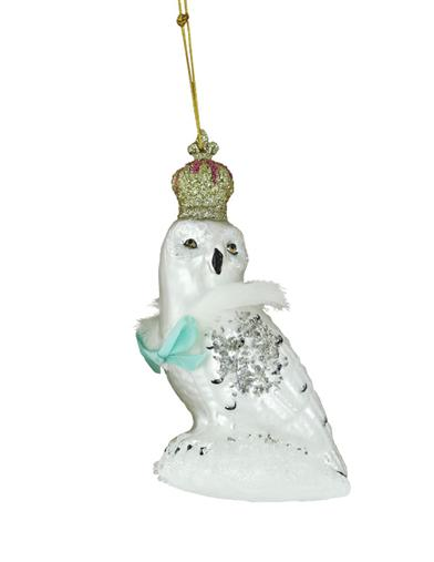 Queen Of The Winterwood Owl Ornament