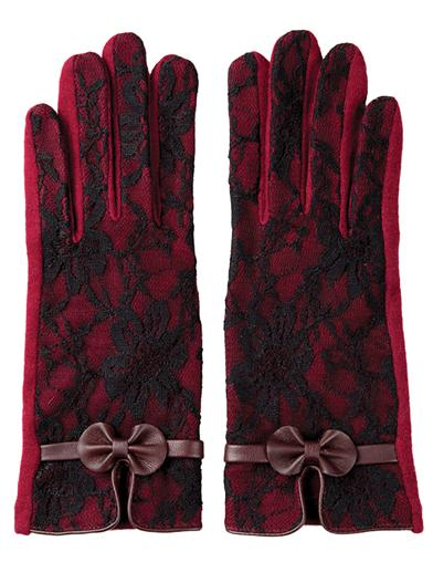 Vintage Style Gloves- Long, Wrist, Evening, Day, Leather, Lace Bordeaux Lace Touchscreen Gloves SmallMedium $19.95 AT vintagedancer.com