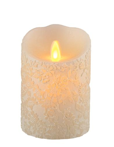 Queen Anne's Lace Flicker Candle (Ivory Petite)