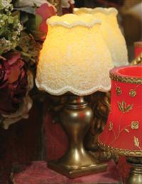 Evermore Candleglow Lamp (Ivory Floral)