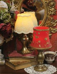 Evermore Candleglow Lamp (Scarlet Sprig)