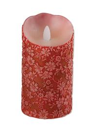 Queen Anne's Lace Flicker Candle (Crimson Grande)