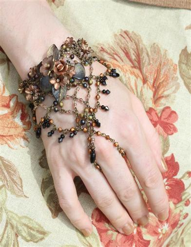 Victorian Costume Jewelry to Wear with Your Dress Jezebel Ring Bracelet $49.95 AT vintagedancer.com