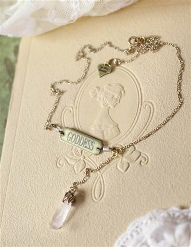 Victorian Costume Jewelry to Wear with Your Dress Goddess Necklace $19.99 AT vintagedancer.com