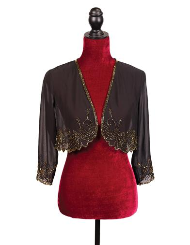Shawls & Wraps | Vintage Lace & Fur Evening Scarves Speakeasy Sequined Shrug $59.95 AT vintagedancer.com