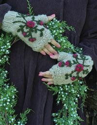 Plum Heather Fingerless Gloves