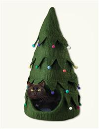 Christmas Tree Cat Cave