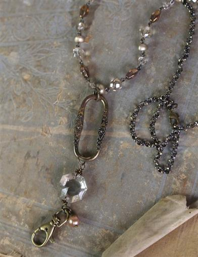 Victorian Costume Jewelry to Wear with Your Dress Parisienne Lanyard Necklace $39.99 AT vintagedancer.com