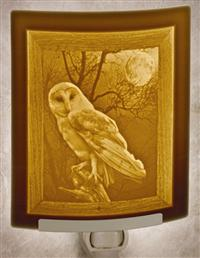 Barn Owl Lithophane Nightlight