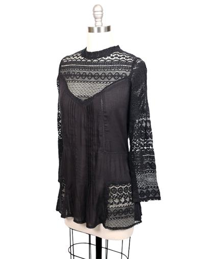 Victorian Steampunk Clothing & Costumes for Ladies Amelie Lace Blouse $49.95 AT vintagedancer.com