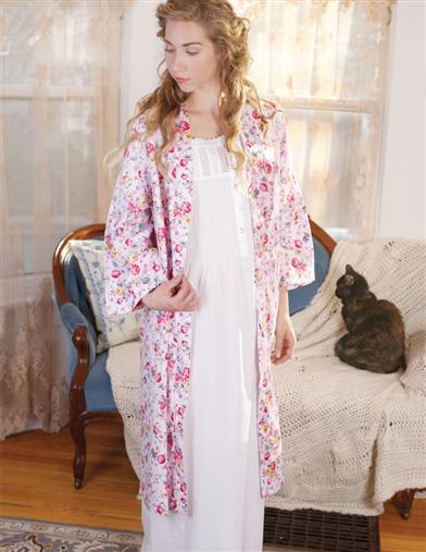 Victorian Hoop Skirt, Petticoat, Underwear Sunshine Rose Spa Robe $39.95 AT vintagedancer.com